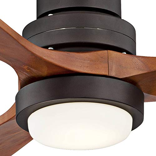 52 Casa Delta Wing Modern Outdoor Ceiling Fan With Light Solid Wood Oil Rubbed Bronze Damp Rated For Kitchen Patio Casa Vieja 0 3