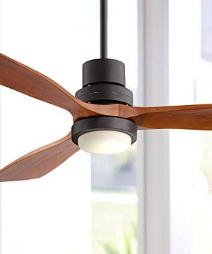 52 Casa Delta Wing Modern Outdoor Ceiling Fan With Light Solid Wood Oil Rubbed Bronze Damp Rated For Kitchen Patio Casa Vieja 0 300x360