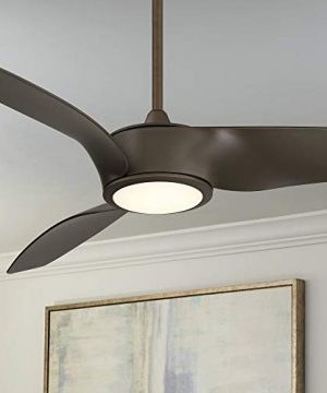 56 Casa Como Contemporary Farmhouse 3 Blade Ceiling Fan With Light LED Remote Control Dimmable Oil Rubbed Bronze For House Bedroom Living Room Home Kitchen Family Dining Office Casa Vieja 0 300x360