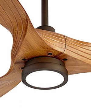 60 Aireon Modern Rustic Outdoor Ceiling Fan With Light LED Remote Control Rubbed Bronze Walnut Finish Blades Damp Rated For Patio Casa Vieja 0 1 300x360
