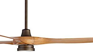 60 Aireon Modern Rustic Outdoor Ceiling Fan With Light LED Remote Control Rubbed Bronze Walnut Finish Blades Damp Rated For Patio Casa Vieja 0 5 300x167