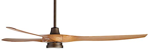 60 Aireon Modern Rustic Outdoor Ceiling Fan With Light LED Remote Control Rubbed Bronze Walnut Finish Blades Damp Rated For Patio Casa Vieja 0 5