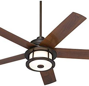 60 Casa Largo Modern Outdoor Ceiling Fan With Light LED Oil Brushed Bronze Dark Walnut Blades Frosted White Glass Damp Rated For Patio Porch Casa Vieja 0 3 300x292