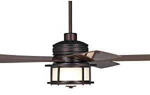 60 Casa Largo Modern Outdoor Ceiling Fan With Light LED Oil Brushed Bronze Dark Walnut Blades Frosted White Glass Damp Rated For Patio Porch Casa Vieja 0 4 300x190