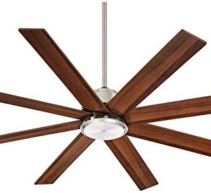 60 The Strand Modern Contemporary Large Ceiling Fan With Remote Brushed Nickel Silver Walnut Cherry Brown Blades For House Bedroom Living Room Home Kitchen Family Dining Office Casa Vieja 0 0 300x275
