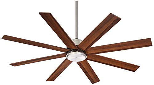 60 The Strand Modern Contemporary Large Ceiling Fan With Remote Brushed Nickel Silver Walnut Cherry Brown Blades For House Bedroom Living Room Home Kitchen Family Dining Office Casa Vieja 0 0