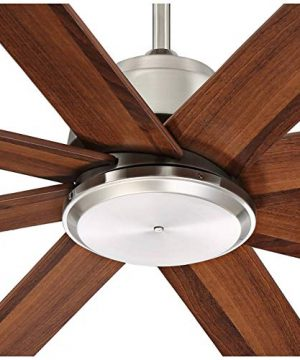 60 The Strand Modern Contemporary Large Ceiling Fan With Remote Brushed Nickel Silver Walnut Cherry Brown Blades For House Bedroom Living Room Home Kitchen Family Dining Office Casa Vieja 0 1 300x360