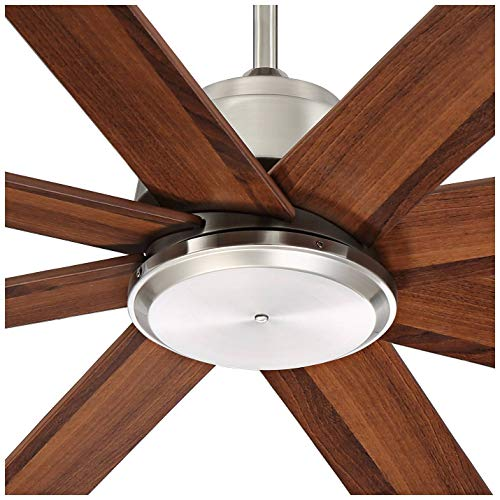 60 The Strand Modern Contemporary Large Ceiling Fan With Remote Brushed Nickel Silver Walnut Cherry Brown Blades For House Bedroom Living Room Home Kitchen Family Dining Office Casa Vieja 0 1
