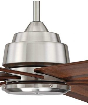 60 The Strand Modern Contemporary Large Ceiling Fan With Remote Brushed Nickel Silver Walnut Cherry Brown Blades For House Bedroom Living Room Home Kitchen Family Dining Office Casa Vieja 0 2 300x360