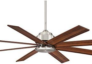 60 The Strand Modern Contemporary Large Ceiling Fan With Remote Brushed Nickel Silver Walnut Cherry Brown Blades For House Bedroom Living Room Home Kitchen Family Dining Office Casa Vieja 0 4 300x211