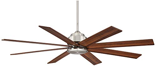 60 The Strand Modern Contemporary Large Ceiling Fan With Remote Brushed Nickel Silver Walnut Cherry Brown Blades For House Bedroom Living Room Home Kitchen Family Dining Office Casa Vieja 0 4