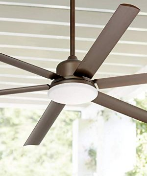 72 Casa Arcade Modern Outdoor Ceiling Fan With Light LED Dimmable Remote Control Oil Rubbed Bronze Damp Rated For Patio Porch Casa Vieja 0 300x360