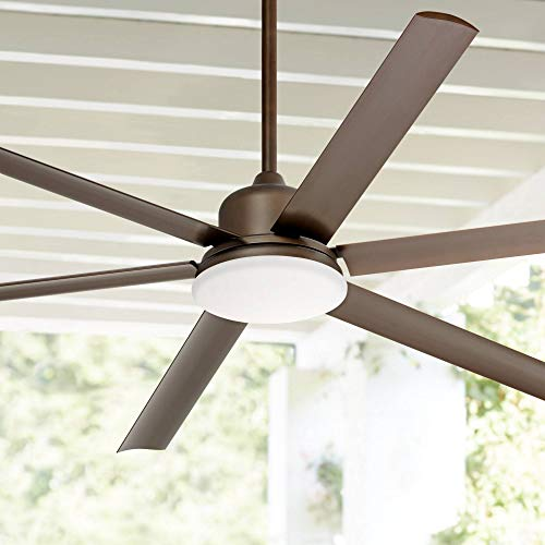 72 Casa Arcade Modern Outdoor Ceiling Fan With Light LED Dimmable Remote Control Oil Rubbed Bronze Damp Rated For Patio Porch Casa Vieja 0