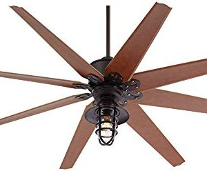 72 Predator Outdoor Ceiling Fan With Light LED Remote Control Dimmable English Bronze Cherry Blades Marlowe Metal Cage Damp Rated Patio Exterior House Porch Gazebo Garage Barn Casa Vieja 0 1 300x248