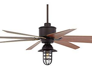 72 Predator Outdoor Ceiling Fan With Light LED Remote Control Dimmable English Bronze Cherry Blades Marlowe Metal Cage Damp Rated Patio Exterior House Porch Gazebo Garage Barn Casa Vieja 0 2 300x217