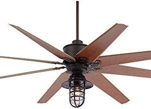 72 Predator Outdoor Ceiling Fan With Light LED Remote Control Dimmable English Bronze Cherry Blades Marlowe Metal Cage Damp Rated Patio Exterior House Porch Gazebo Garage Barn Casa Vieja 0 300x217