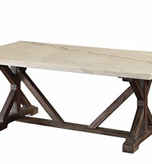 ACME Furniture Romina Coffee Table WhiteWeathered Espresso 0 300x323