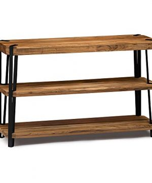 Alaterre Furniture Ryegate Natural Solid Wood With Metal Media Console Table Live Edge 0 300x360
