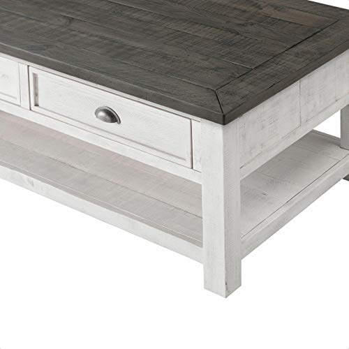 Allyssa Coffee Table With Storage Top Material Solid Wood Overall 19 H X 50 L X 28 W 0 2