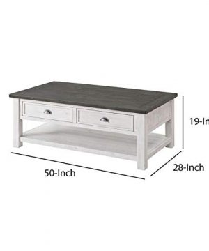 Allyssa Coffee Table With Storage Top Material Solid Wood Overall 19 H X 50 L X 28 W 0 3 300x360