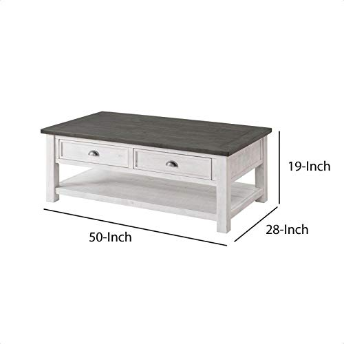 Allyssa Coffee Table With Storage Top Material Solid Wood Overall 19 H X 50 L X 28 W 0 3