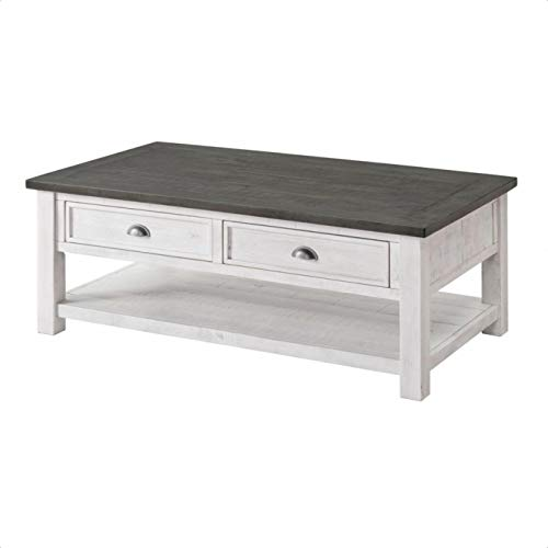 Allyssa Coffee Table With Storage Top Material Solid Wood Overall 19 H X 50 L X 28 W 0