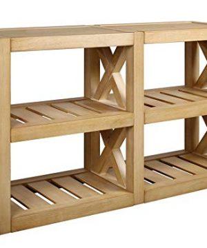Amazon Brand Stone Beam Solid Pine Rustic Farmhouse Console Table 52W Rustic Oak 0 300x360