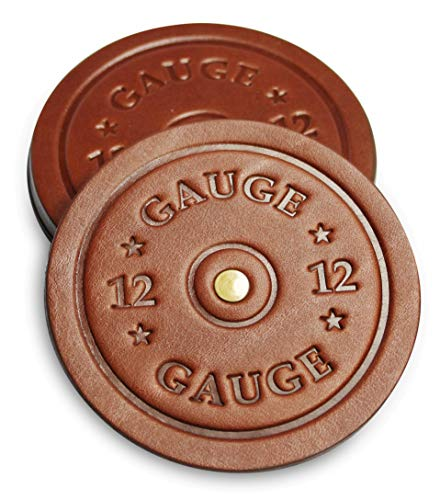 American Bench Craft Shotgun Shell Coasters Leather Coasters Set Of 4 Rustic Coasters Brown 0