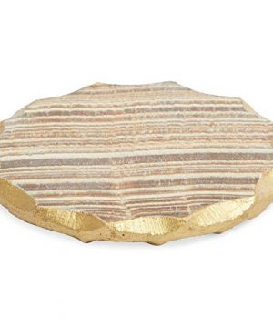Aragonite Crystal Geode Coasters For Drinks Gold Edge Trim 4 In 4 Pack 0 5 300x360