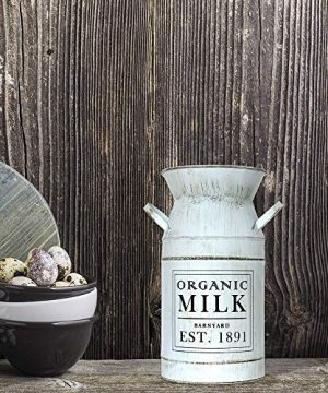 Barnyard Designs Decorative Milk Can Rustic Primitive French Country Home Decor 11 X 6 0 1 300x360