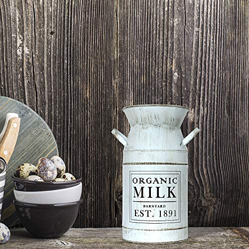 Barnyard Designs Decorative Milk Can Rustic Primitive French Country Home Decor 11 X 6 0 1