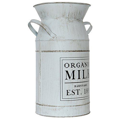 Barnyard Designs Decorative Milk Can Rustic Primitive French Country Home Decor 11 X 6 0 2