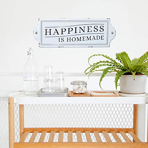 Barnyard Designs Happiness Is Homemade Enamel Wall Sign Rustic Vintage Inspirational Quote Home Decor 24 X 825 0 0