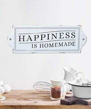 Barnyard Designs Happiness Is Homemade Enamel Wall Sign Rustic Vintage Inspirational Quote Home Decor 24 X 825 0 1 300x360