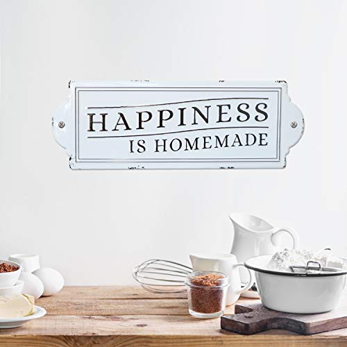 Barnyard Designs Happiness Is Homemade Enamel Wall Sign Rustic Vintage Inspirational Quote Home Decor 24 X 825 0 1