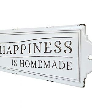 Barnyard Designs Happiness Is Homemade Enamel Wall Sign Rustic Vintage Inspirational Quote Home Decor 24 X 825 0 2 300x360