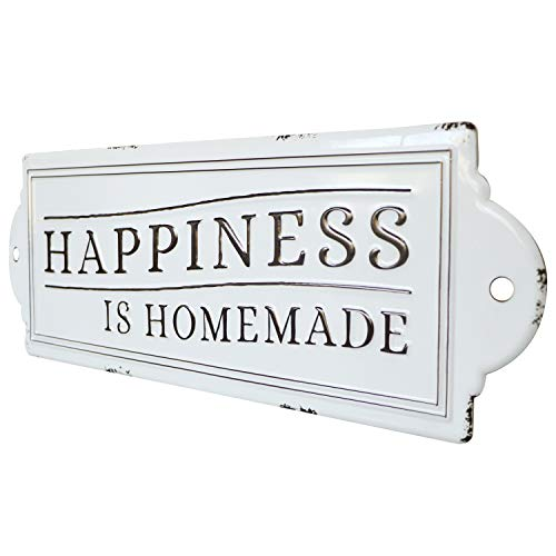 Barnyard Designs Happiness Is Homemade Enamel Wall Sign Rustic Vintage Inspirational Quote Home Decor 24 X 825 0 2