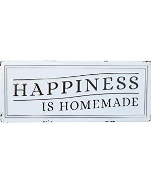 Barnyard Designs Happiness Is Homemade Enamel Wall Sign Rustic Vintage Inspirational Quote Home Decor 24 X 825 0 300x360