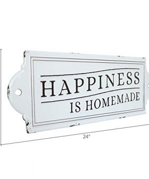 Barnyard Designs Happiness Is Homemade Enamel Wall Sign Rustic Vintage Inspirational Quote Home Decor 24 X 825 0 4 300x360