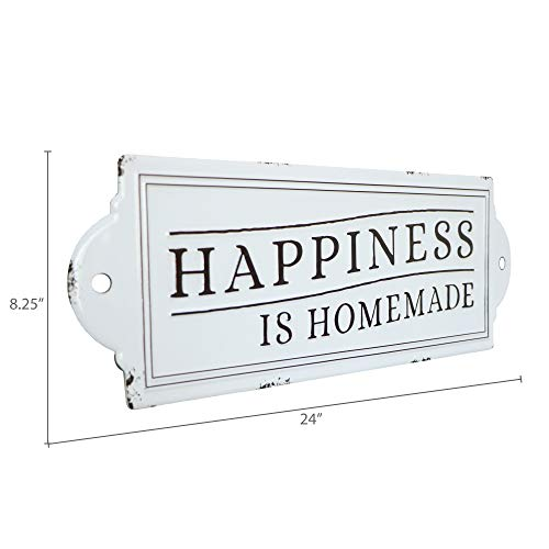 Barnyard Designs Happiness Is Homemade Enamel Wall Sign Rustic Vintage Inspirational Quote Home Decor 24 X 825 0 4
