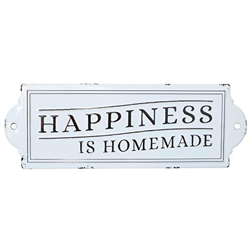 Barnyard Designs Happiness Is Homemade Enamel Wall Sign Rustic Vintage Inspirational Quote Home Decor 24 X 825 0