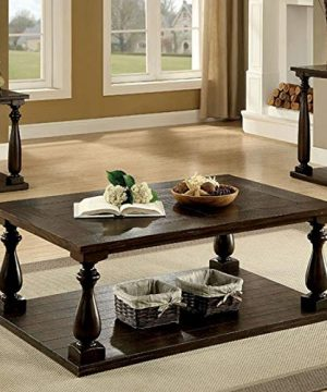 Benjara Brown Benzara Wooden Coffee Table With Open Bottom Shelf One 0 0 300x360