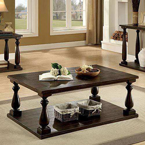Benjara Brown Benzara Wooden Coffee Table With Open Bottom Shelf One 0 0