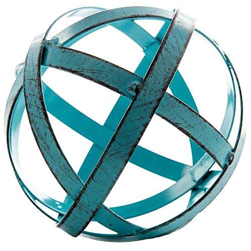 Blue Metal Band Decorative Sphere 0