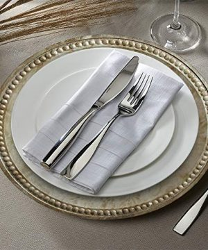 Charge It By Jay Randall Set Of 4 Charger Large Decorative Melamine Service Plate For Home Professional Fine Dining For Upscale Catering Events Dinner Parties 14 Rustic Silver 0 0 300x360