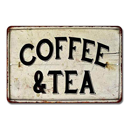 Chico Creek Signs Coffee Tea Sign Station Nook Shop Signs Decor Hot Farmhouse Decorations Rustic Time Bar Kitchen Country Chic Accessories Tin Wall Art 16 X 24 Matte Finish Metal 116240020092 0