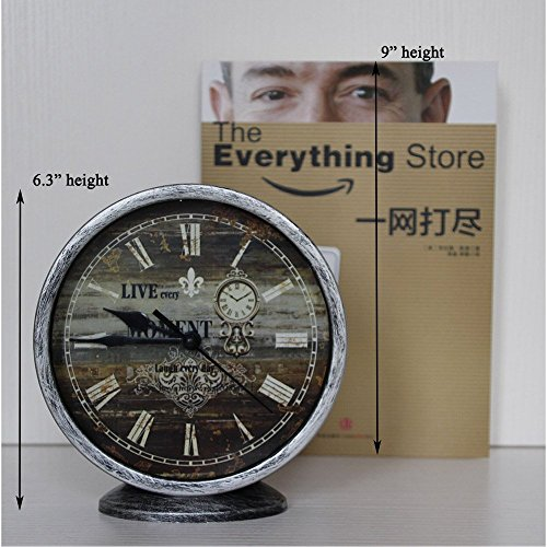 Classic Silent Desk Clock 6 Inch Non Ticking Decor Silver Wall Clocks Easy To Ready For Kitchen Bathroom Office 0 1