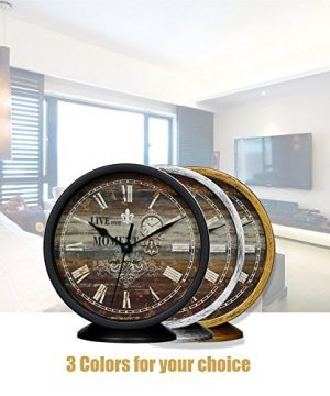 Classic Silent Desk Clock 6 Inch Non Ticking Decor Silver Wall Clocks Easy To Ready For Kitchen Bathroom Office 0 2 300x360