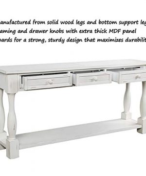 Console Table With Drawers And Shelf 64 Long Sofa Table Entryway Table For Entryway Living Room Hallway Antique White 0 2 300x360