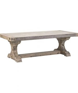 Contemporary Home Living 175 Grey Concrete Luxurious Pirate Coffee Table 0 300x360